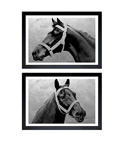 "Oliver Gal ""Winning Horse"" Diptych Framed Art"