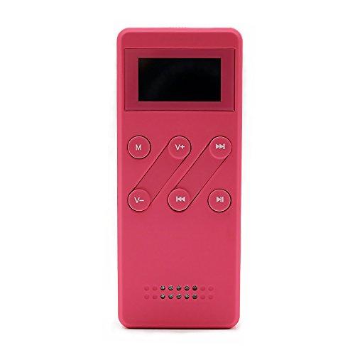 AIKAQI MP3/WMA/APE/FLACプレーヤー HIFI高音質 200時間超長連続音楽再生 録音対応プレーヤー 8GB音楽プレーヤー ウォークマン (ピンク)