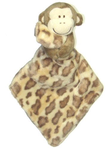 Baby Boy Plush Monkey Holding Animal Print Blanket by Baby Starters - Brown - Not Applicable - 1