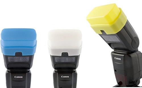 Pro Diffuseur à 3 couleurs de PROFOX pour Canon Speedlite 600EX-RT et Yongnuo YN600EX-RT