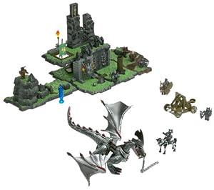 Amazon Com Mega Bloks Dragons Sorcerers Lair Toys Amp Games