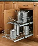 Rev-A-Shelf RS5WB2.1522.CR 14.75 in. Double Chrome Pullout Baskets