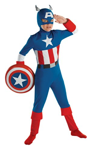 Captain America Classic Sm 4-6 Kids Boys Costume