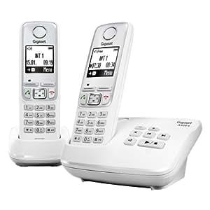 Gigaset A420A Duo Téléphone Sans fil DECT/GAP avec Répondeur Blanc