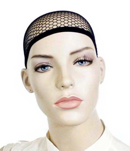 3-Pack-Open-end-Black-Mesh-Net-Wig-Cap-Liner