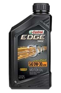Castrol 06244 EDGE 0W-30 SPT Full Synthetic Motor Oil - 1 Quart Bottle, (Pack of 6)