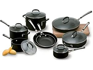 Calphalon 14-pc. Nonstick Simply Calphalon Enamel Cookware Set