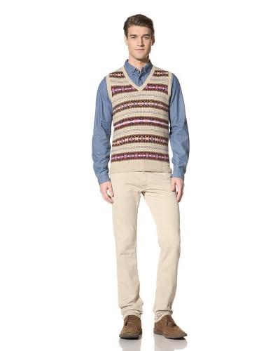GANT Men's Sleeveless Fair Isle Sweater  [Multicolor]