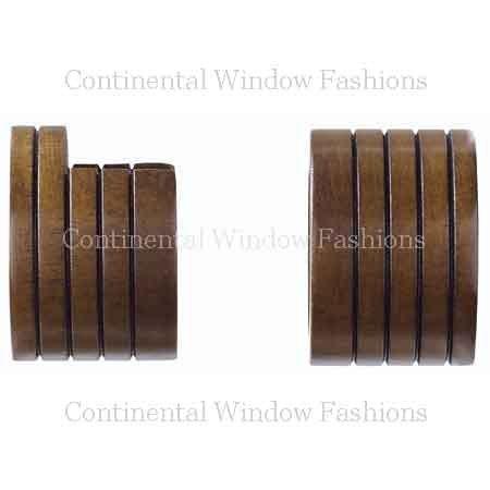 Wood Inside Mount Socket Walnut