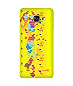 Stripes And Elephant Print-43 Samsung Galaxy A3 Case