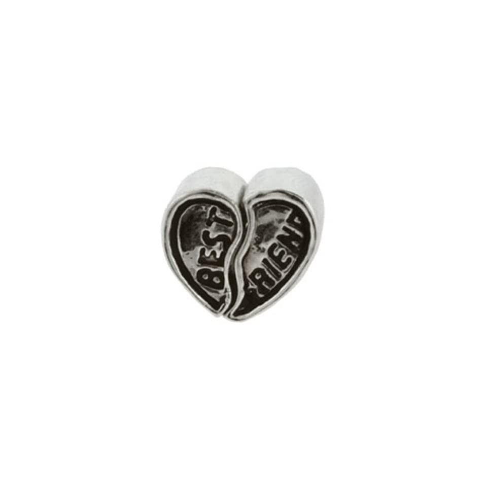 Best Friends Heart Set Oriana Bead   Pandora Bead & Bracelet Compatible