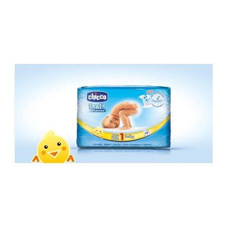 Chicco - Pannolini Dry-Fit per neonato, 28 pezzi