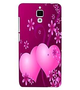 ColourCraft Love Hearts Design Back Case Cover for XIAOMI MI 4