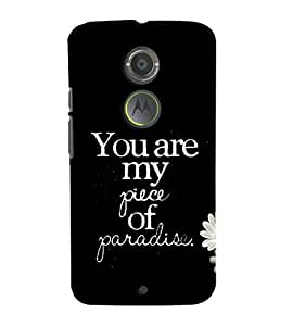 Fuson Premium My Paradise Printed Hard Plastic Back Case Cover for Motorola Moto X (2nd Gen)
