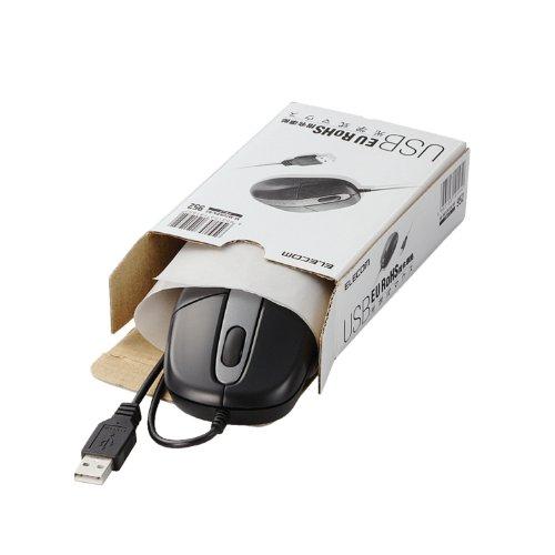 ELECOM 光学式マウス USB接続 EU RoHS指令準拠 簡易パッケージ ブラック M-M2URBK/RS