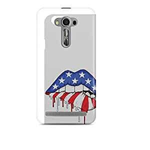 Motivatebox - Asus Zenfone Selfie Back Cover - Americaan lips Polycarbonate 3D Hard case protective back cover. Premium Quality designer Printed 3D Matte finish hard case back cover.