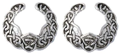 Pair Of Celtic Knot Tribal Swirl Around Sexy Nipple Shield Jewelry Adjustable Non Piercing Clip On Shield Ring front-181663