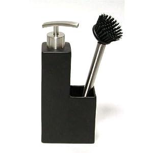 Seifenspender kuche mit bursten schwarz amazonde kuche for Seifenspender küche