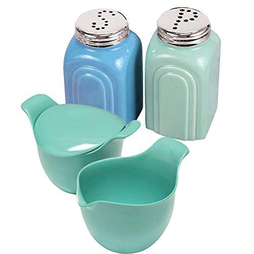 (Set) Art Deco Salt and Pepper Shakers &