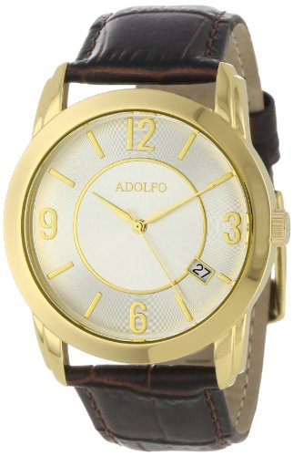 ADOLFO Men's 31030B Dress Slim Design Calendar Watch