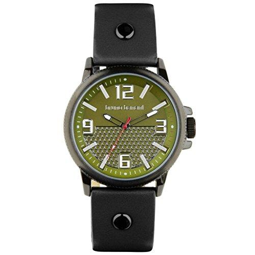 Bruno Banani Men's Watch Prios Leather Strap Green Dial Quartz Watch Green Silver Trend Watch UBR30028