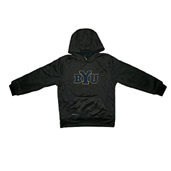 NCAA Brigham Young Cougars Youth Therma-Fit Pullover Hoodie with Embroidered Logo by NCAA
