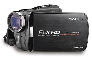 Yashica CMH150 Full-HD Camcorder (7,6 cm (3 Zoll) Display, 5-fach optischer Zoom, Kartenslot, HDMI, USB 2.0) metallic anthrazit