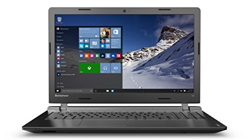 Lenovo Ideapad 100 15.6-Inch Laptop (Black) - (Intel Core i5-5200U, 8 GB RAM, 1 TB Storage, Windows 10 Home)