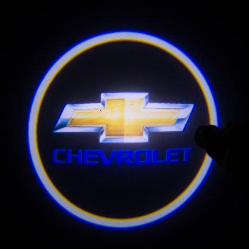Sunsbell New 2Pcs Led Car Logo Light For Chevrolet Light Night Vision Laser Welcome Light Door Shadow For Chevrolet