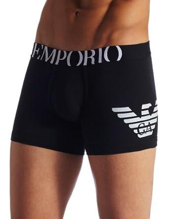 Emporio Armani Men's Eagle Boxer Brief, White, Small at