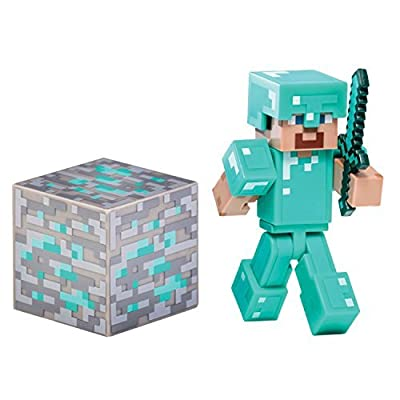 4 X Minecraft Diamond Steve Action Figure by Jazwares Domestic