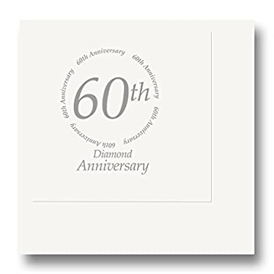 60th Anniversary Beverage Napkin