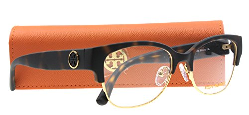 TORY BURCH Eyeglasses TY 4001 Eyeglasses 3130 Matte Dark Tortoise Gold 52mm (Tory Burch Eyeglass Frames compare prices)