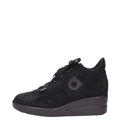 Polacchino Zeppa Sneaker Cerniera interna Agile By Rucoline New Suede Nero 226 A autunno inverno 2015 - 2016 made in italy AI 15/16 (38)