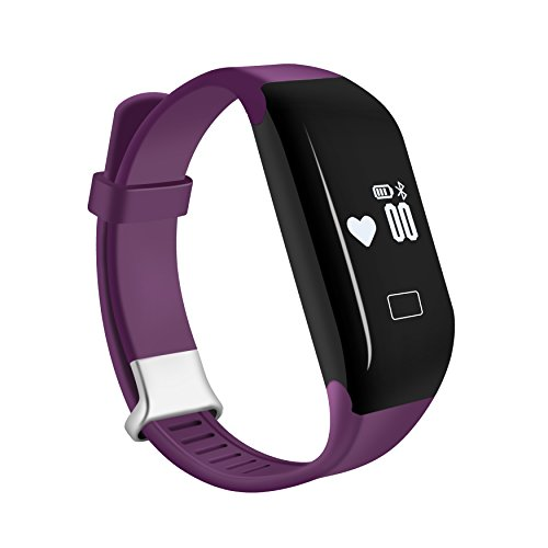 COOSA Waterproof Healthy H3 Smart Band Bracelet Heart Rate Monitor Activity Fitness Tracker Wristband for iOS & Android