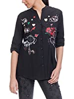 Tantra Camisa Mujer With Stickers And Prints (Negro)