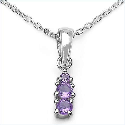 Jewelry-Schmidt-Collier / necklace with amethyst pendant 925 sterling silver