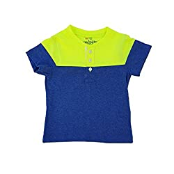 Snoby Summer Cool T-shirts Green&blue _12-18Month (SBYK1307)
