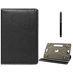 DMG Protective Flip Book Cover Stand View Case for Nxi Ffn (Black) + Capacitive Touch Screen Stylus