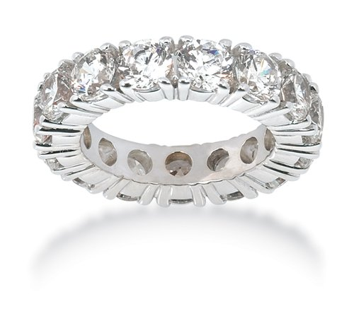 7.30CT Women's Round Brilliant Cut Diamond Eternity 