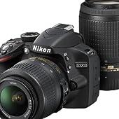 Nikon デジタル一眼レフカメラ D3200BK WZ 200mmダブルズームキット ブラック