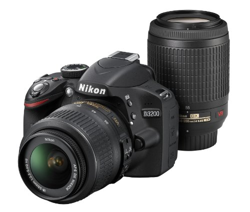 Nikon digital single-lens reflex camera D3200 200mm double zoom ...