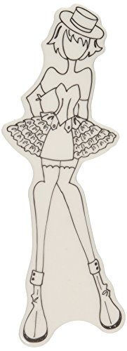 Prima Marketing Mixed Media Doll Cling Rubber Stamps, Priscilla with Top Hat - 1