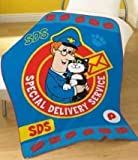 POSTMAN PAT 'SDS' OFFICIAL NOVELTY CHARACTER FLEECE BLANKET THROW