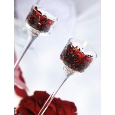 Sassi decorativi rosso bianco sideso 500 pcs acrilico - Sassi decorativi per interni ...