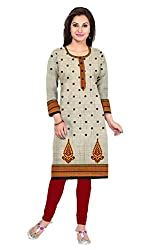 Riddhi Dresses Women's Cotton Unstitched kurti (Riddhi Dresses 49_Multi Coloured_Free Size)