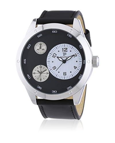 Time Piece Reloj de cuarzo  Negro / Plateado 50 mm