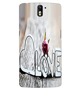 ColourCraft Love Quote Design Back Case Cover for OnePlus One