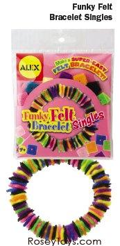 Funky Felt Bracelet Singles By Alex Toys - 1