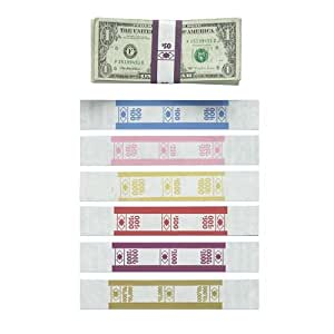 pm company currency straps 50 1000 pk white deep purple currency bands. Black Bedroom Furniture Sets. Home Design Ideas